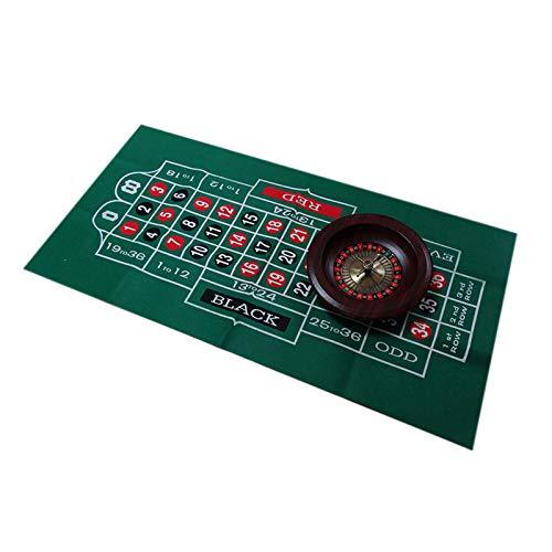 Zidao Tapis de Table de Tapis Roulette, Feutre pour Vrai Jeu de Casino Feeling modèle Double Face Tapis de Table en Tissu Nappe,A