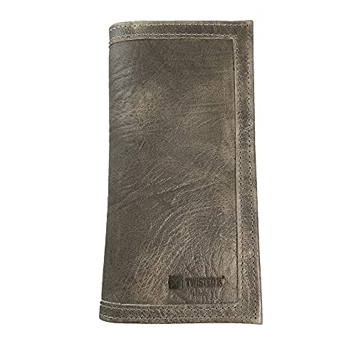 Twisted X Genuine Leather Rodeo Wallet (Gray)
