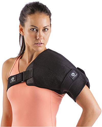 ActiveWrap Shoulder Ice Pack Wrap with Reusable Hot & Cold Packs - Rotator Cuff Ice Therapy - Small/Medium