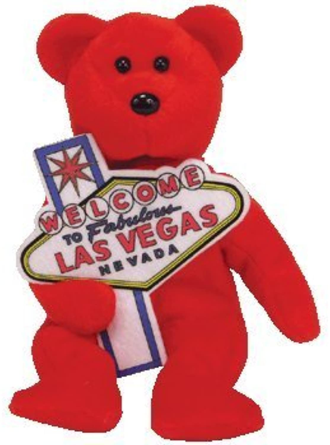 TY Aces (Las Vegas Exclusives) the Bear Beanie Baby by TYUS STATE CITY BEANIES