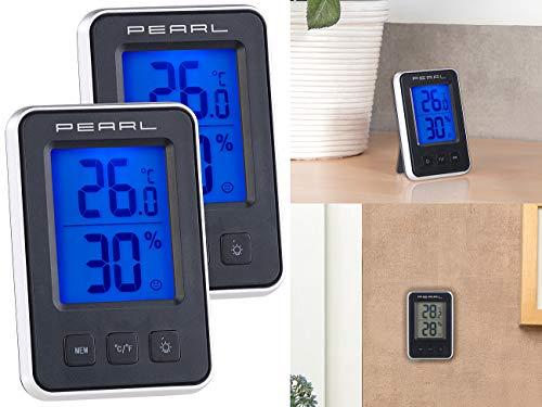 PEARL Raumthermometer: 3er-Set Digitale Thermometer/Hygrometer, Komfortanzeige, LCD-Display