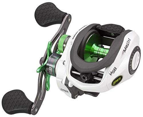 LEW'S Fishing Mach 1 Speed Spool SLP Series, Baitcasting Reel, Fishing Reel, Fishing Gear and Equipment, Fishing Accessories (MH1SHA)