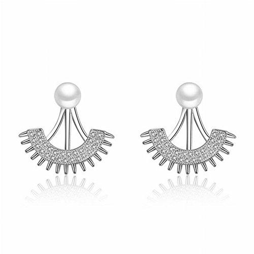 Thumby Diamond-Encrusted Halve Oorbellen Hangende Oorbellen Vrouwen Trend High Fashion Parel oorsieraden, Afgebeeld