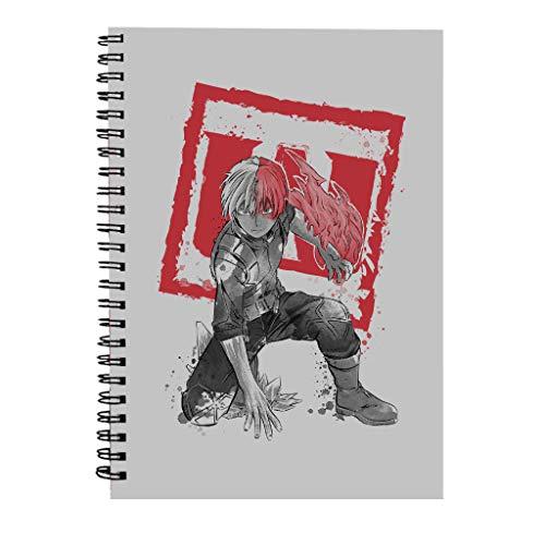 Shoto Todoroki Sumi E My Hero Academia Spiral Notebook
