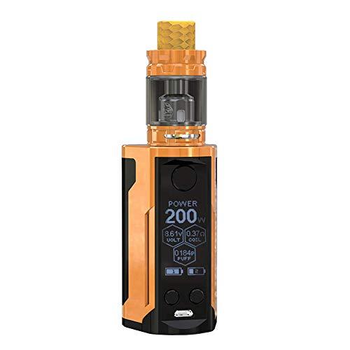 Wismec Reuleaux RX GEN3 Dual Mod con GNOME King Evaporator 230W E tapa de cigarrillo electrónico con 5.8 ml/sin nicotina sin batería (Gloss Gold)
