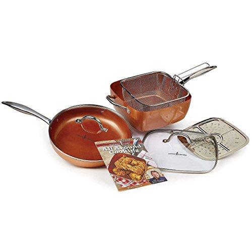 "Copper Chef 11"" XL Cookware set"