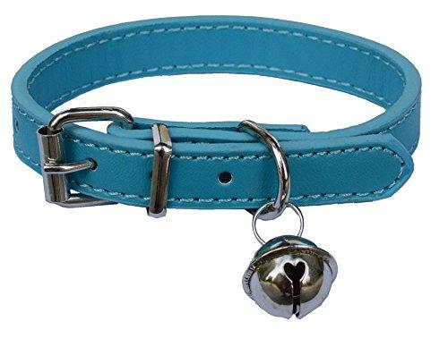 Moda Piel Mascota Collares para gatos, bebé cachorros perros, ajustable 8'-10.5'