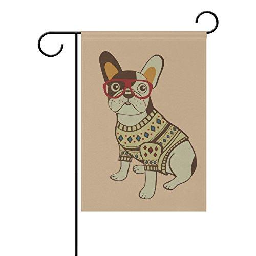 Bennigiry Animal Lunettes de chien Polyester Garden Drapeau Bannière 30,5 x 45,7 cm, Seasonal Jardin Drapeau pour l'extérieur décoratif Drapeau pour mariage, Polyester filé, multicolore, 28x40(in)
