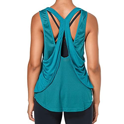 Sylanfia Tank Top Donna Canotta Sportiva Yoga Fitness Running Senza Maniche Girocollo Casual Palestra T-Shirt Apri Indietro Canottiere Atletiche