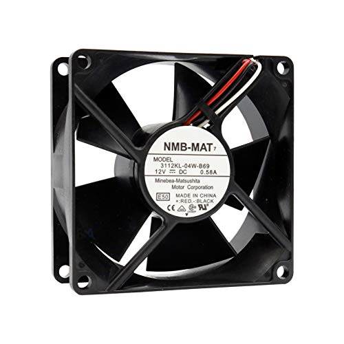 NMB Ventilador 80 mm 80 x 80 x 32 3112KL-04W-B69 12 V DC 0,58 A 7 W Air Fan 80 mm 8 cm 3 hilos (+/-/sensor) refrigeración