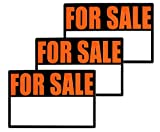 ALAZCO 3pc High-Visibility Magnetic for Sale Signs for Cars & Trucks 12'' x 8''