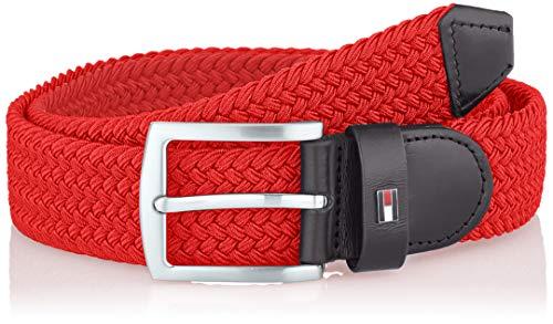 Tommy Hilfiger Denton Elastic 3.5 Cinturón, Rojo (Barbados Cherry Xaf), 95 (Talla...