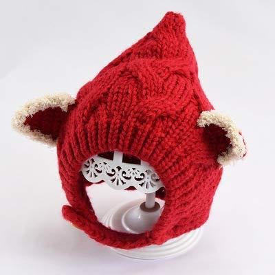 geiqianjiumai Baby warme wol hoed baby oordopjes elf hoed kinderen cartoon hoofddeksels