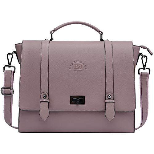 15.6 INCH LAPTOP BAG FOR WOMEN: A fresh take on a modern classic style, the laptop briefcase is crafted in Vintage Purple Saffiano Eco-leather and finished with a embossed logo. Perfectly poised and ready for the day, the EaseGave laptop bag takes yo...