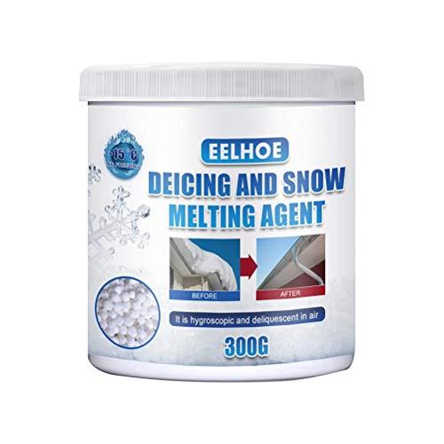 Rlevolexy Cubo para derretir hielo, agente de derretimiento de nieve, agente descongelante de carretera, nieve derretir partículas de sal