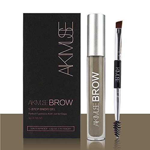 ROMANTIC BEAR Wasserfest Augenbrauen Farben Gel Mit Pinsel Set,Anti-discoloration Eyebrow Gel,DUNKELBLONDE