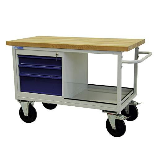 ADB mobile Werkbank Werktisch Tischwagen Werkstattwagen Werkstatt Rollwagen Werkstatteinrichtung Zubehör Werkstatt fahrbar mit Rollen und Schubladen