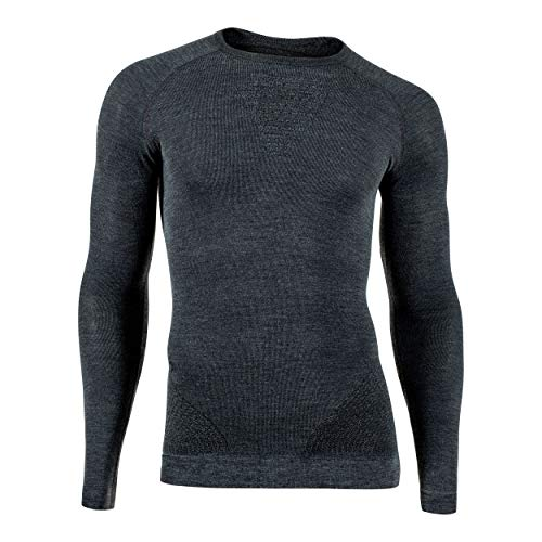 UYN Man Fusyon Cashmere UW Shirt LG_SL Fusyon Cashmere Maglia Intima da Uomo Manica Lunga, Uomo, Grey Rock/Black, L/XL