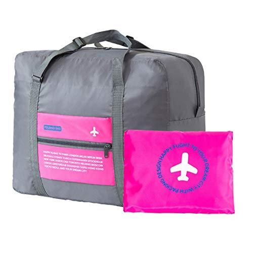 Beloved  Borsa, borsone ripiegabile - bagaglio a mano - impermeabile - con tracolla - salvaspazio - sport e palestra (Rosa)