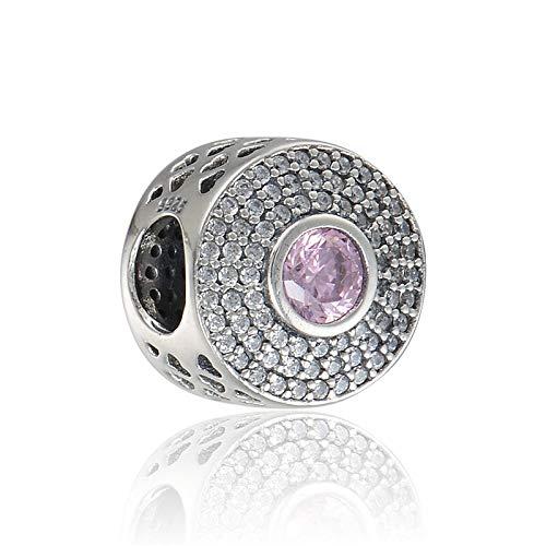 Pandora 925 plata esterlina DIY colgante joyería ajuste mmcharms pulsera Zircon mariposa amor flor encanto joyería