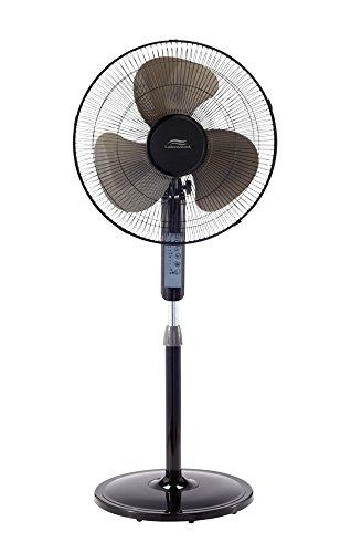 Lakewood LSF1610BR-BM 16inch Remote Control Stand Fan,Black