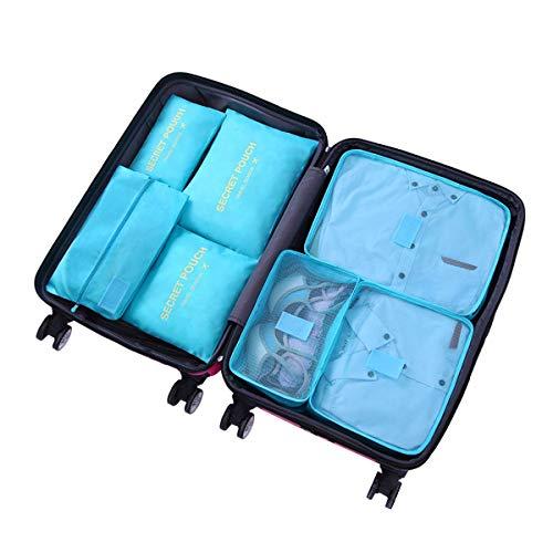 トラベルポーチ7点セット アレンジケース 衣類収納袋 整理 袋インナーバッグ メッシュポーチ 軽量 防水 大容量 洗面用具収納 化粧品収納 旅行 出張 整理用