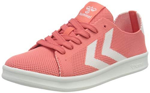 hummel Womens BUSAN Knit Sneaker, Sugar Coral,37.5 EU