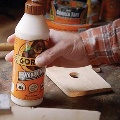 Gorilla Wood Glue, 18 ounce Bottle, (Pack of 1)