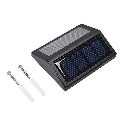GuoQiang Zhou 1pcs de la lámpara Negro Impermeable de la luz LED de energía Solar al Aire Libre del jardín de la Calle Camino Escaleras Iluminación Seguridad