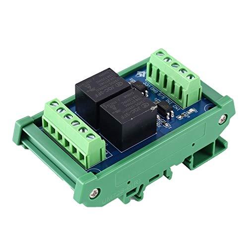 Suministros de ciencia Módulo de relevo Módulo de relé de alta/baja Nivel de disparo optocoupler aislador PLC convertidor de señal con el carril DC 12V de 2 canales