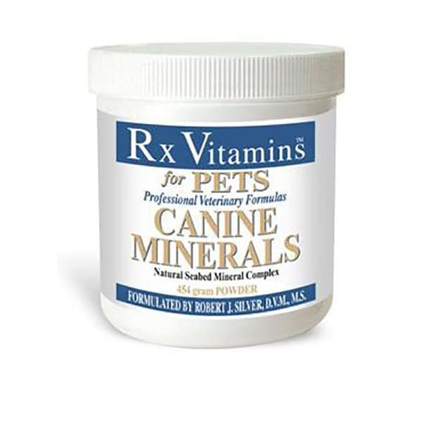 Rx Vitamins Canine Minerals for Dogs – Veterinary Formula Natural Seabed Mineral Complex – Calcium Carbonate – Powder 454g