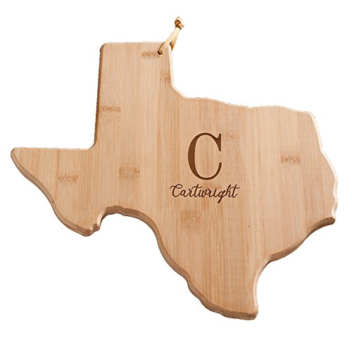Personalized Family Initial Texas State Cutting Board,...