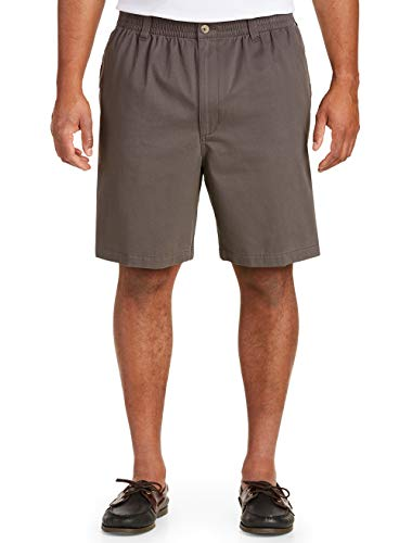 Harbor Bay by DXL Big and Tall Elastic-Waist Shorts, Charcoal, 2X