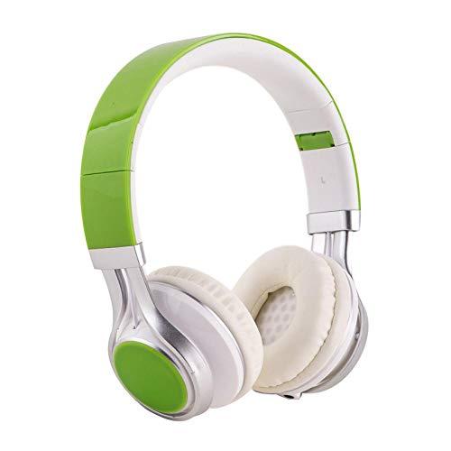 SFBBBO Headset Kabelgebundenes Mobiltelefon Kopfhörer Stereo-Headset Kopfhörer 3,5-mm-Kopfhörer Kopfhörer für MP3-Spiel Computer Kids EP-16green