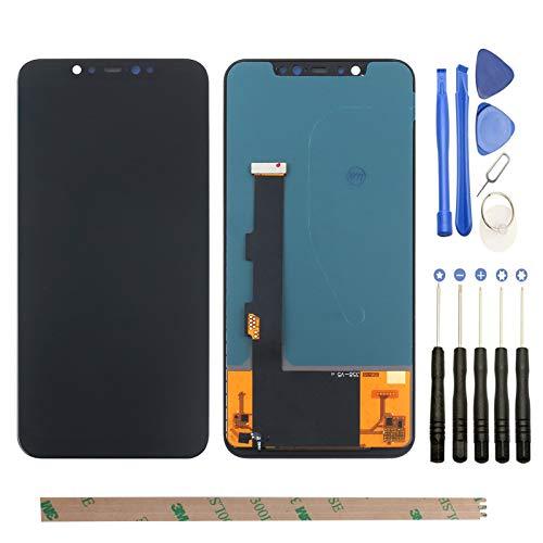 YHX-OU Pantalla táctil LCD de 6,21 pulgadas para XiaoMi Mi 8 con herramientas completas (negro)