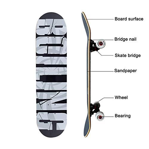Engels alfabet Stitching Skateboards Longboards Professionele skateboards beginners jongens meisjes kinderen volwassenen 4 wielen skateboard dubbele wip