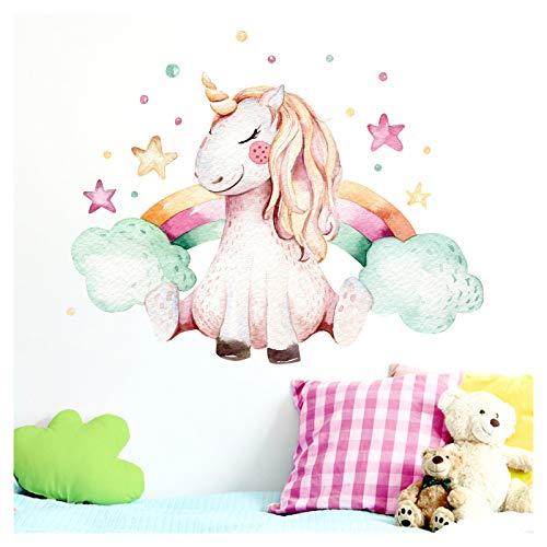 Little Deco Muurtattoo meisjes eenhoorn & regenboog II kinderkamer muursticker muursticker babykamer sticker stickers DL138