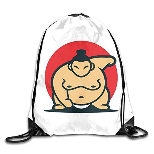 ジムサック ナップサック 日本の力士 相撲 どすこい 大相撲 スポーツバッグ スポーツ用バッグ トレーニングバッグ 運動 アウトドア 巾着袋 男女兼用 部活適用 軽量 バックパック サイズ(35*45cm)