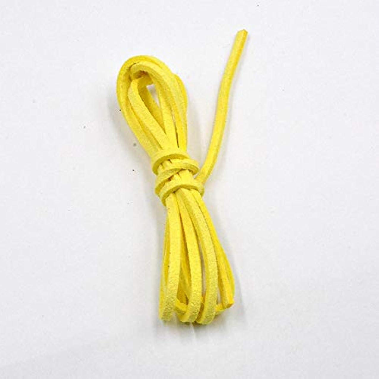 アーチペダルに沿ってJJESC ブレスレット&ネックレスを作るジュエリーのための新たな27色2.6x1.5mm 5メートルフラットフェイクスエード韓国ベルベット皮ひも材料DIY (Color : 025)