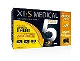 XLS Medical Forte 5 Pack 3 meses + Plan Nudge & Servicio Nutricionista Gratis | Captagrasas | Pierde hasta 5 veces más peso que solo haciendo dieta | Origen Natural 100% Vegano | 540 cápsulas