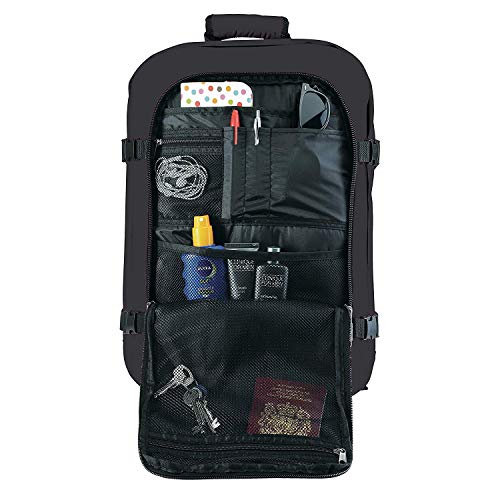 Cabin Max - Mochila (apta como equipaje de mano, 44 L, 55 x 40 x 20 cm), color negro