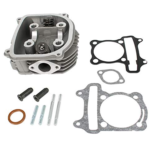 Glixal ATGT-021 GY6 125cc 150cc to 155cc 58.5mm Performance Cylinder Head Assy with Valves Set for 152QMI 157QMJ Chinese Scooter Moped ATV Go Kart Engine (None EGR Type)