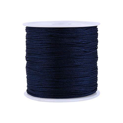 10M/cuerda de nylon hilo nudo chino Macrame cordón pulsera trenzada de bricolaje borlas de hilo rebordear Lot 0.8mm, Tipo 15