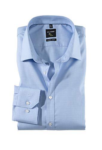 OLYMPHerren Hemd No. 6 Super Slim Fit Langarm , BlauBleu, 40