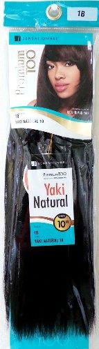 """Sensationnel Premium Too Yaki Natural 10"""" - #1B(Natural Black) 100% Human Hair"""
