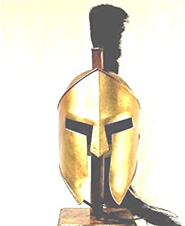 THORINSTRUMENTS (with device) King Spartan 300 Movie Helmet + Liner & Stand for Re-Enactment,LARP,Role Play