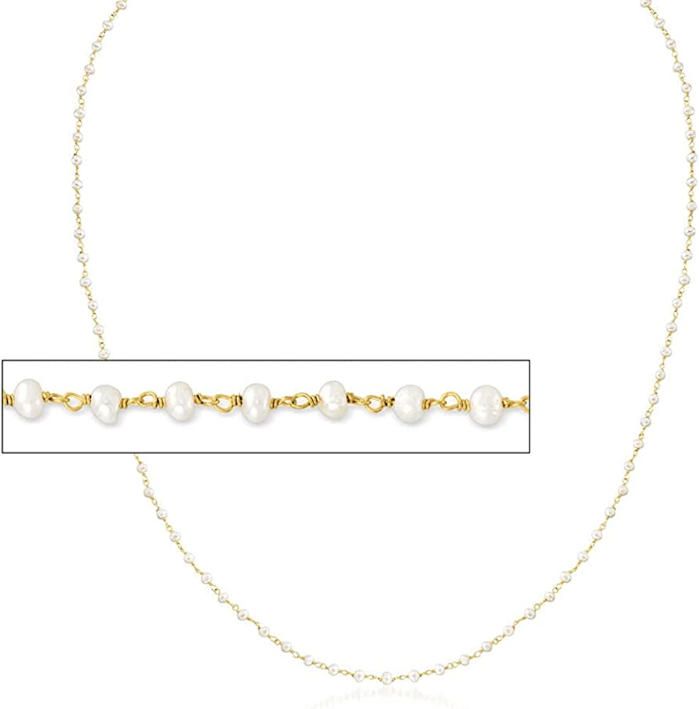 Ross-Simons 2-In-1 Small Cultured Pearl Ranking integrated 1st place Super sale period limited Necklace Eyeglass Ch and