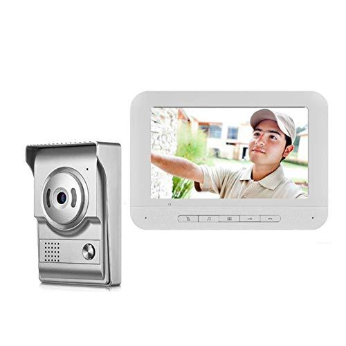 SXXYTCWL Video Portero Monitor de 7 Pulgadas ataron con Alambre el Timbre del teléfono de la cámara de vídeo Visual Portero for la Seguridad casera Timbre for Home Office (Color: 805M11) jianyou