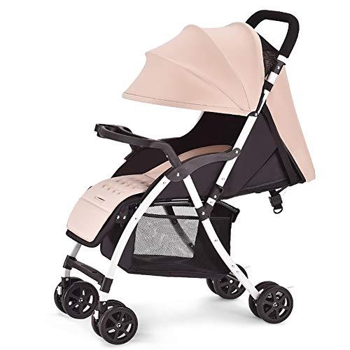 Carrito de bebé El Cochecito de bebé Puede Sentarse y acostarse Carro Infantil Ligero Portátil Plegable Amortiguador recién Nacido Trolley