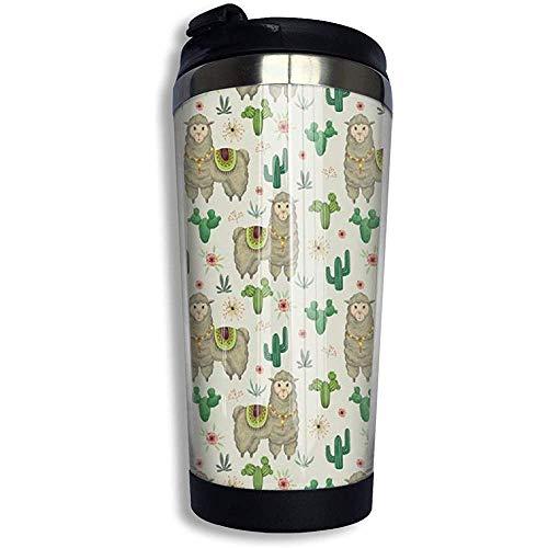 JULOE South Desert Plant Cactus Netter Lama Edelstahl Kaffeebecher Travel Cup Vakuumisolierte Kaffeetasse